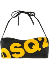 Dsquared2 logo print bandeau bikini top