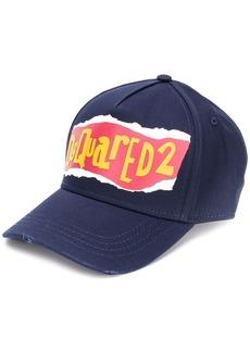 Dsquared2 logo print baseball cap