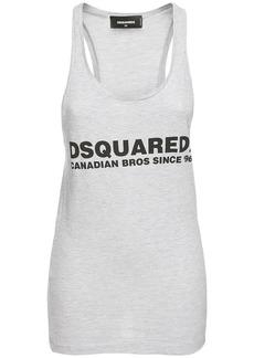 Dsquared2 Logo Print Cotton Blend Tank Top