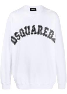 Dsquared2 logo print crew neck sweatshirt