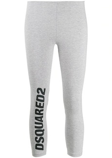 Dsquared2 logo print cropped leggings