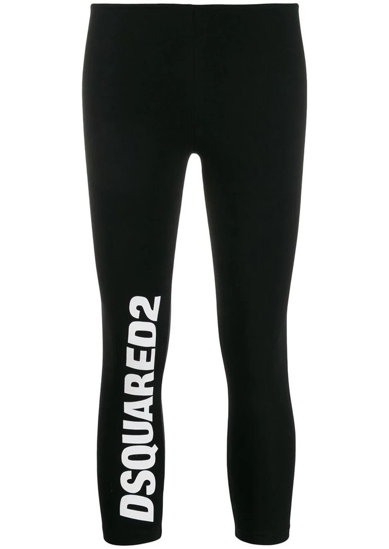 Dsquared2 logo print cropped leggings