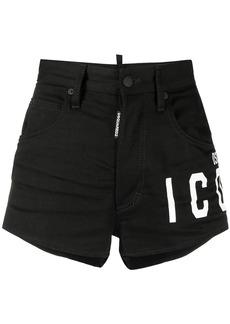 Dsquared2 logo-print denim shorts
