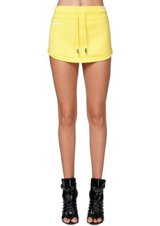 Dsquared2 Logo Print Jersey Mini Skirt
