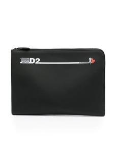 Dsquared2 logo print laptop case