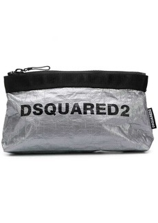 Dsquared2 logo print make-up bag