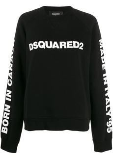 Dsquared2 logo print oversized sweatshirt