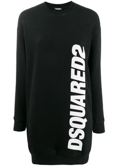 Dsquared2 logo print sweater dress