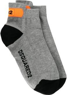 Dsquared2 logo printed ankle socks