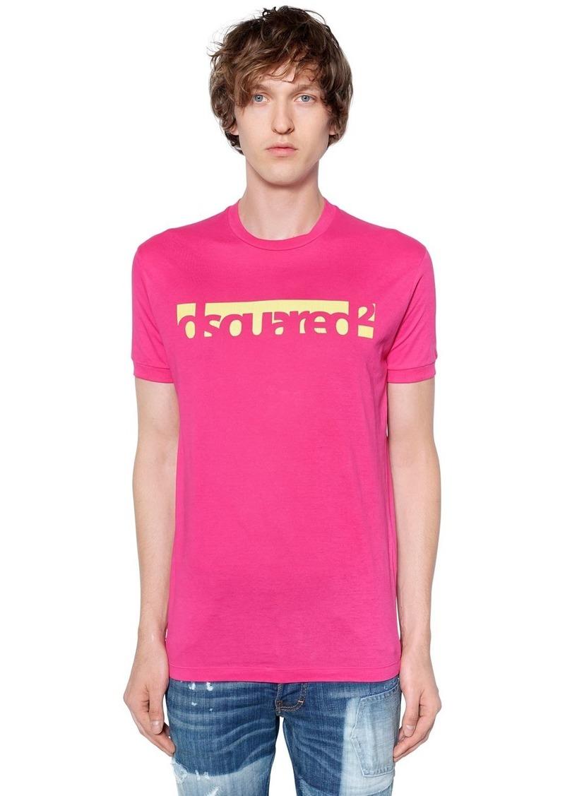 Dsquared2 Logo Printed Cotton Jersey T-shirt