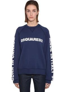 Dsquared2 Logo Printed Cotton Sweatshirt