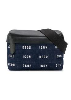 Dsquared2 logo-printed denim belt bag