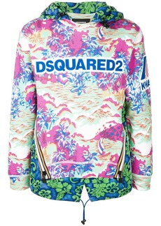 Dsquared2 logo printed hooded pullover