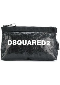 Dsquared2 logo printed make up bag
