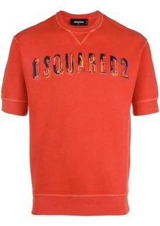 Dsquared2 logo printed short-sleeved sweatshirt