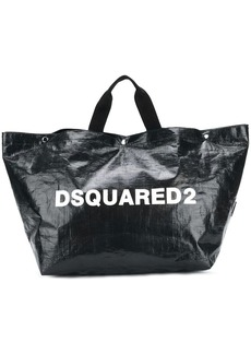 Dsquared2 logo printed tote bag large