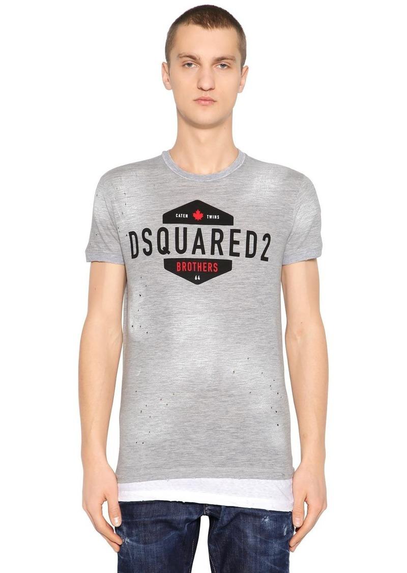 Dsquared2 Logo Printed Vintage Jersey T-shirt