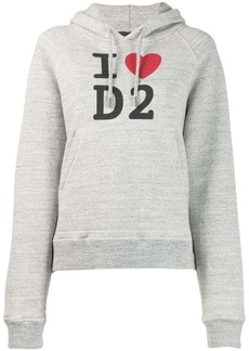 Dsquared2 logo slogan knitted hoodie