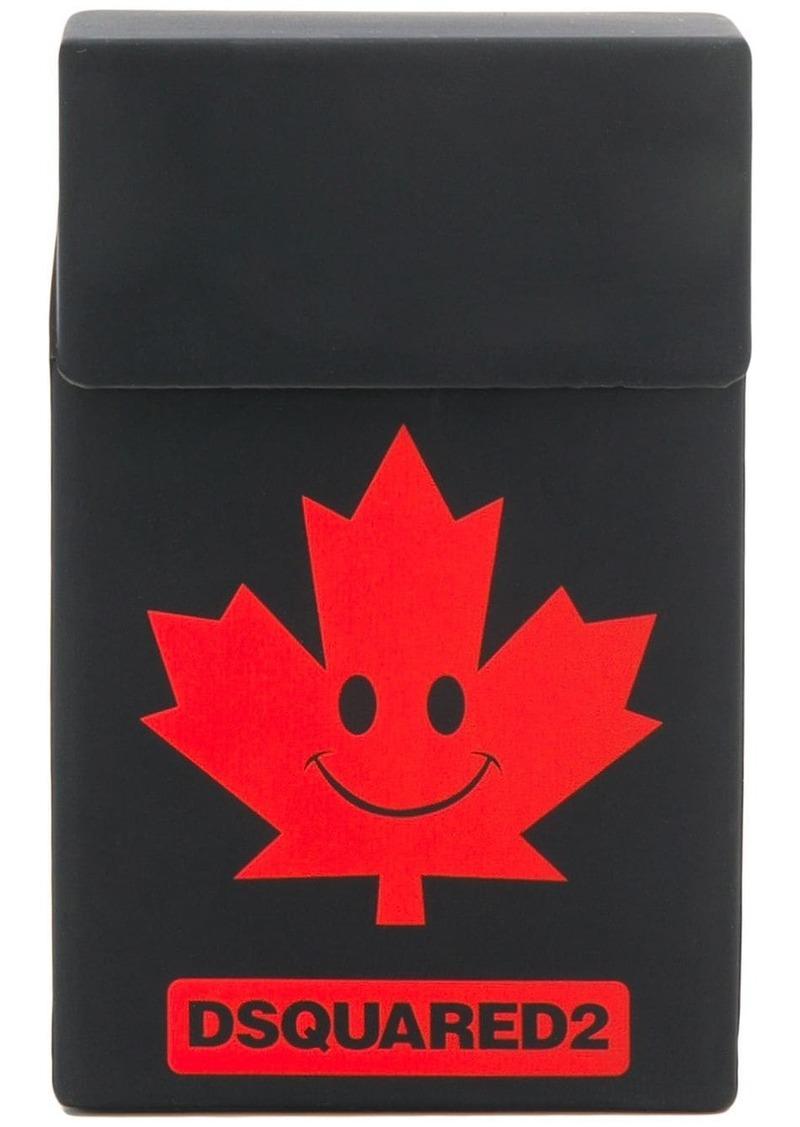 Dsquared2 logo smiley cigarette case