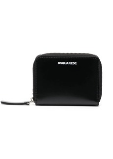 Dsquared2 logo-stamp zip-around wallet