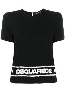 Dsquared2 logo stitched T-shirt