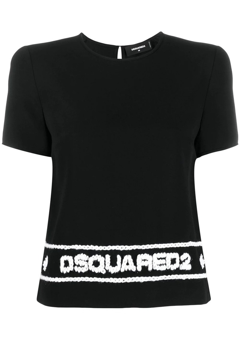 Dsquared2 logo stitched T-shirt