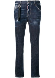Dsquared2 logo strap jeans