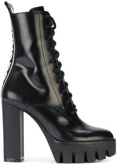 Dsquared2 logo strap rubber lug sole boots