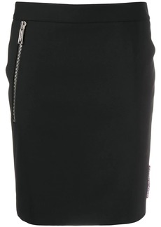 Dsquared2 logo tag fitted skirt