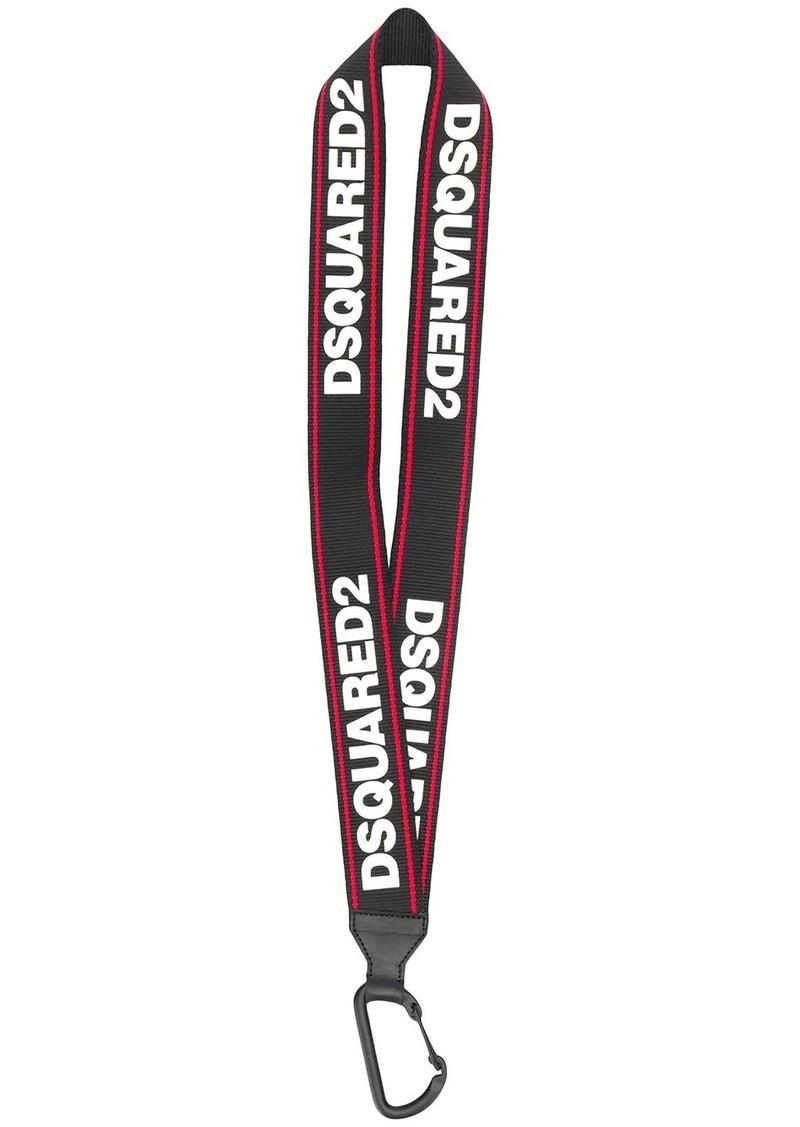 Dsquared2 logo tape lanyard