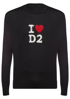 Dsquared2 Logo Wool Jacquard Knit Sweater
