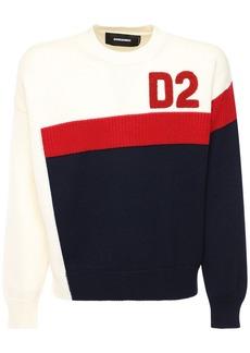 Dsquared2 Logo Wool Knit Sweater