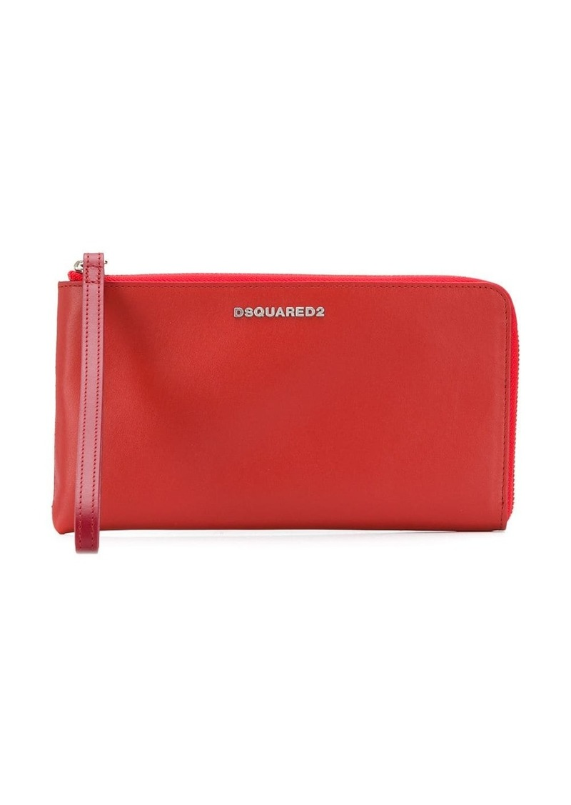 Dsquared2 logo zipped wallet