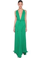 Dsquared2 Long Light Viscose Crepe Dress