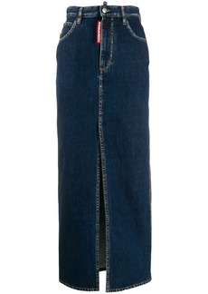 Dsquared2 long pencil denim skirt