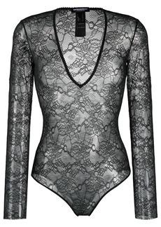 Dsquared2 longsleeved lace bodysuit