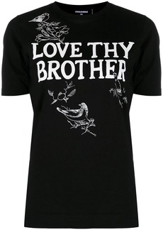 Dsquared2 Love Thy Brother print T-shirt