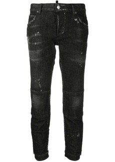Dsquared2 low rise scuffed skinny jeans