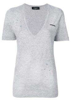 Dsquared2 low V-neck T-shirt