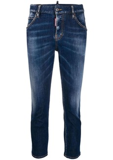 Dsquared2 Maple Leaf cropped jeans