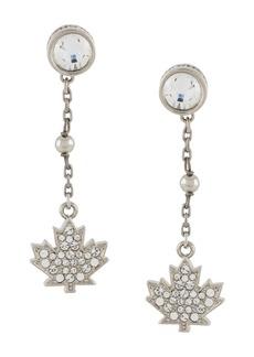 Dsquared2 maple leaf drop earrings