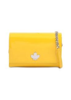 Dsquared2 Maple Leaf Faux Patent Shoulder Bag