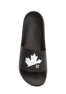 Dsquared2 Maple Leaf Print Rubber Slide Sandals