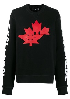 Dsquared2 maple leaf print sweatshirt