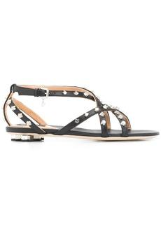 Dsquared2 maple leaf studded flat sandals