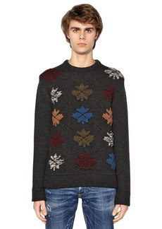 Dsquared2 Maple Leaf Wool Blend Sweater