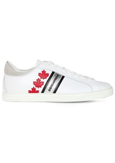 Dsquared2 Maple Leaves Leather Sneakers