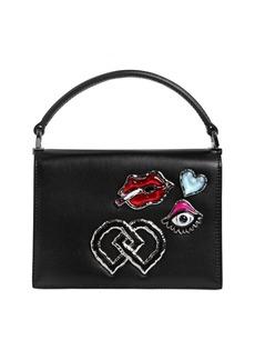 Dsquared2 Medium Leather Bag W/ Appliqués