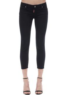 Dsquared2 Medium Waist Crop Twiggy Denim Jeans