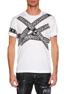 Dsquared2 Men's Logo Taping Graphic T-Shirt